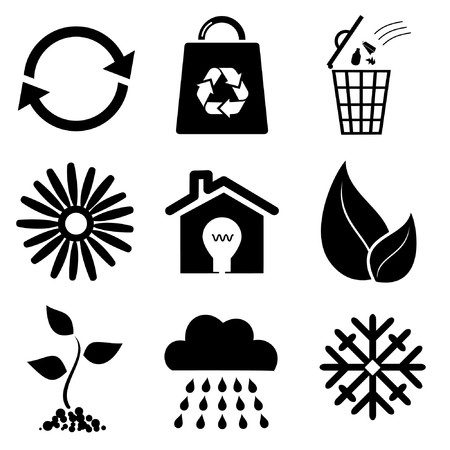 sparare: Icone ecologiche  Vettoriali