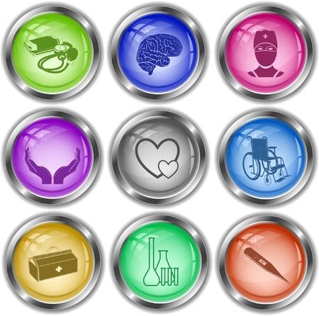 icons of medical elements Vector