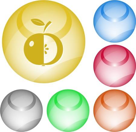Apple. interface element. Stock Vector - 7375771