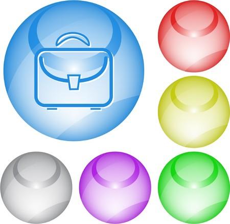 Briefcase. interface element. Stock Vector - 7375835