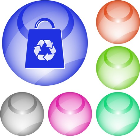 Bag with recycle symbol. interface element. Stock Vector - 7376348