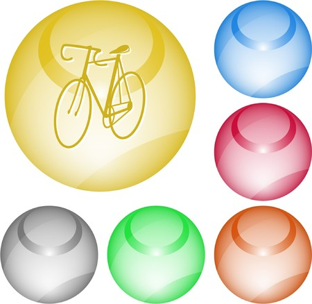 Bicycle. interface element. Stock Vector - 7376128