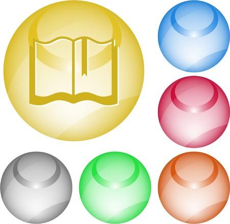 Book. interface element. Stock Vector - 7375774