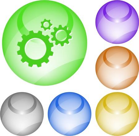 Gears. interface element. Vector