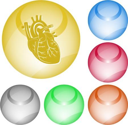 Heart. interface element. Stock Vector - 7376142