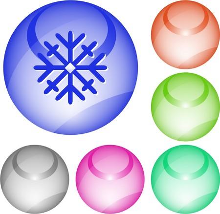 Snowflake. interface element. Stock Vector - 7376349