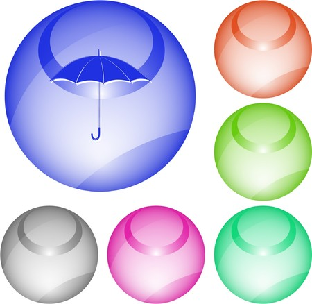 Umbrella. interface element. Stock Vector - 7376304