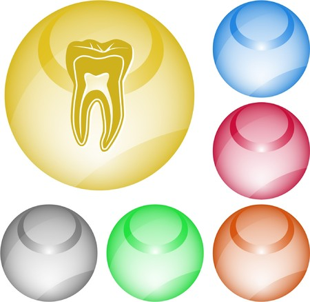 Tooth. interface element. Vector