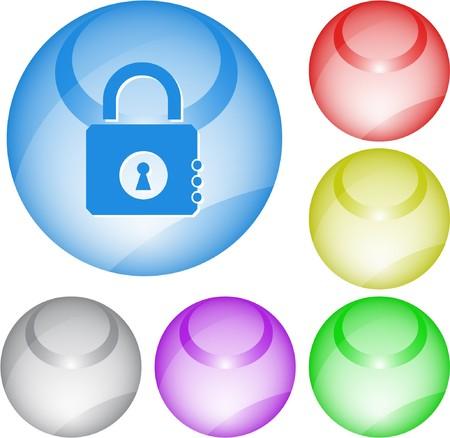 Closed lock. interface element. Stock Vector - 7375825