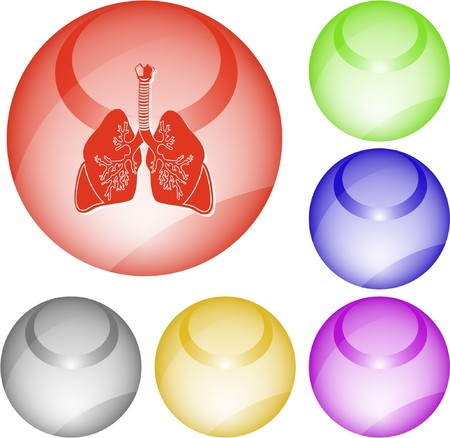 Lungs. interface element. Vector