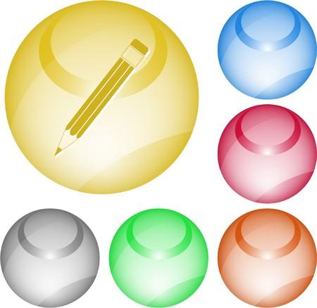 Pencil. interface element. Stock Vector - 7375772