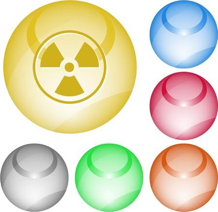 Radiation symbol. interface element. Stock Vector - 7375768