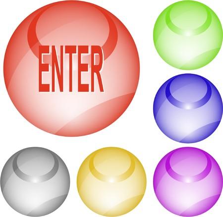 Enter. interface element. Stock Vector - 7376170