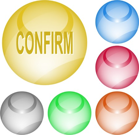 Confirm. interface element. Stock Vector - 7375782