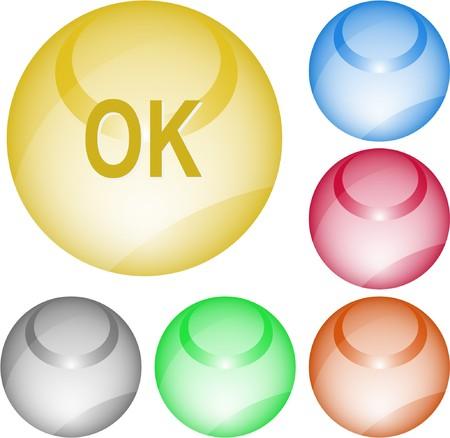 Ok. interface element. Stock Vector - 7375699