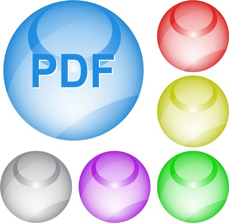 Pdf. interface element. Stock Vector - 7375827