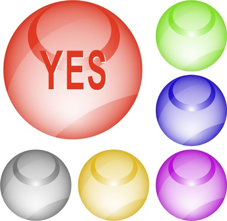 Yes. interface element. Stock Vector - 7376168