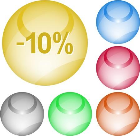 -10%. interface element. Vector