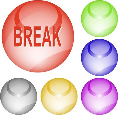 Break. interface element.