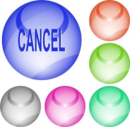 undoing: Cancel. interface element. Illustration