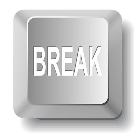 Break. computer key.