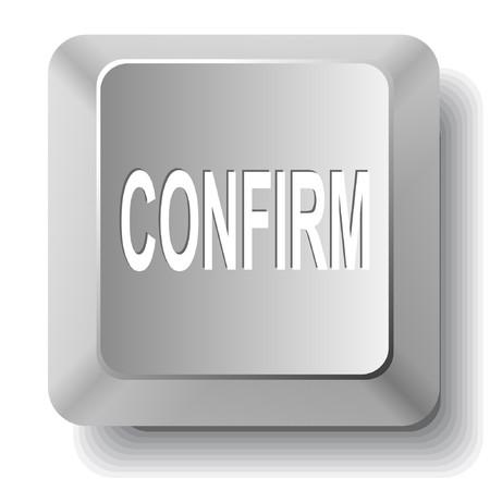 confirm: Confirm. computer key.