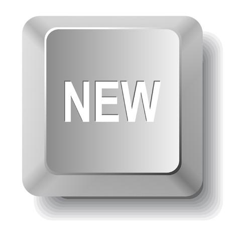 New. computer key. Stock Vector - 7511189