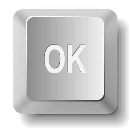 Ok. computer key. Stock Vector - 7511236