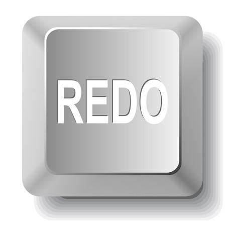 redo: Redo. computer key.