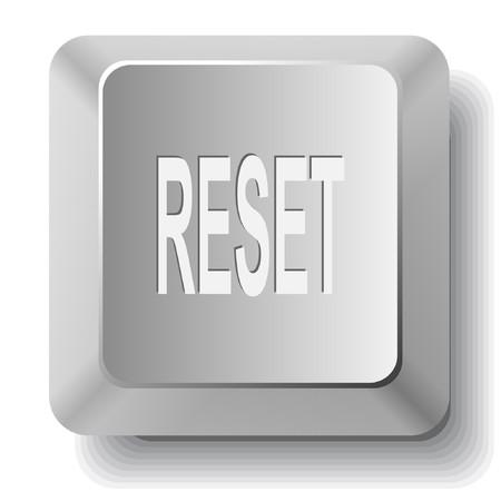 Reset. computer key. Ilustração