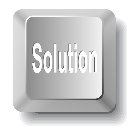 ソリューションです。コンピューターのキー。