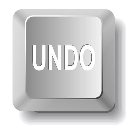 undoing: Undo. computer key. Illustration
