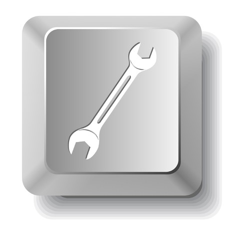 leverage: Spanner. computer key. Illustration