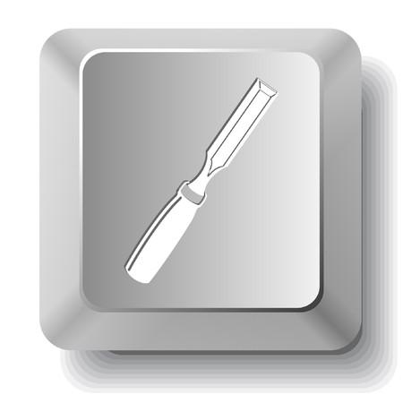 Chisel.  computer key. Vector
