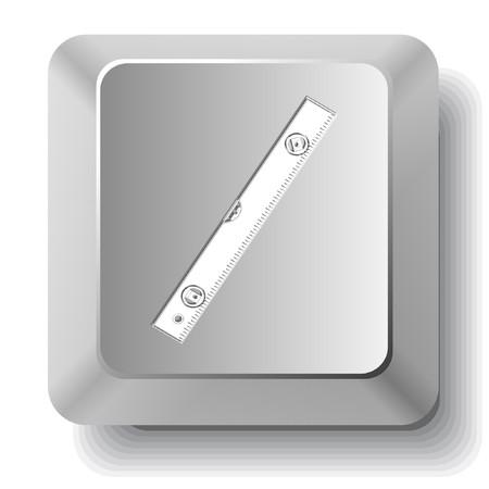spirit level: Spirit level.  computer key.