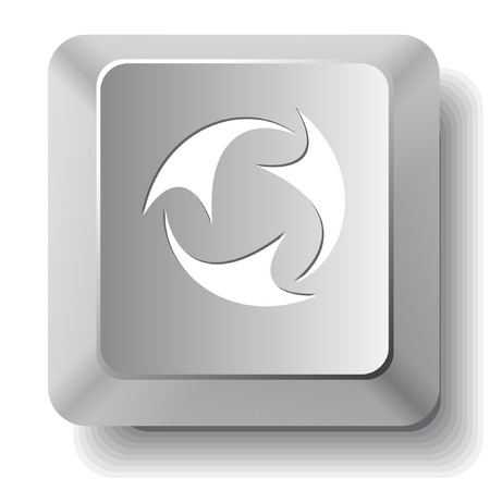 Abstract recycle symbol. computer key. Vector