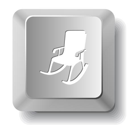 Armchair. computer key. Stock Vector - 7522805