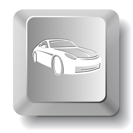Car. computer key. Vector