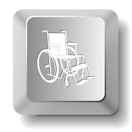 Invalid chair. computer key. Stock Vector - 7523696