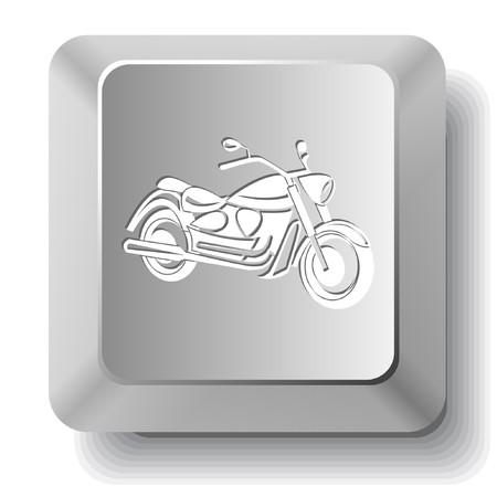 オートバイ。コンピューターのキー。