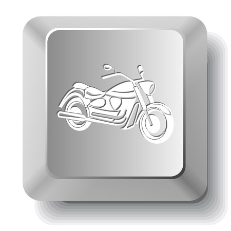 Motorcycle.  computer key. Vector