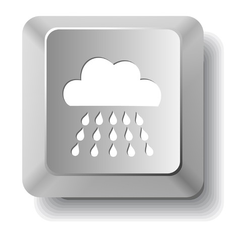 Rain. computer key. Stock Vector - 7522774
