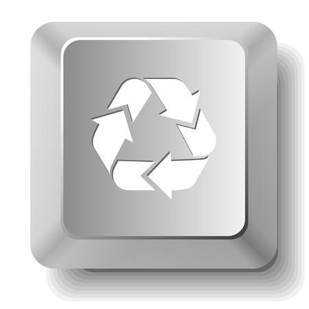 Recycle symbol. computer key. Vector