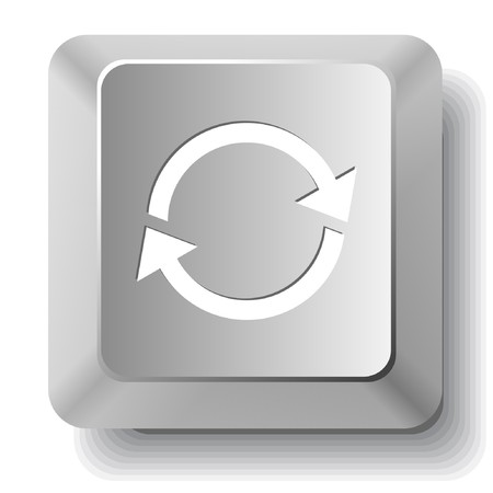 Recycle symbol. computer key. Stock Vector - 7522623