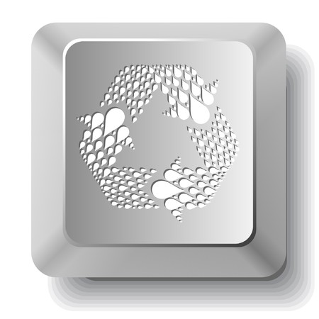 Recycle symbol.computer key. Vector