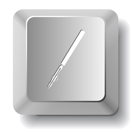 Ruling pen.  computer key. Stock Vector - 7522785
