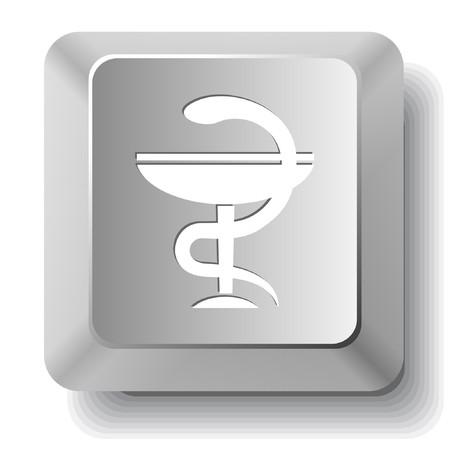Pharma symbol. computer key. Vector