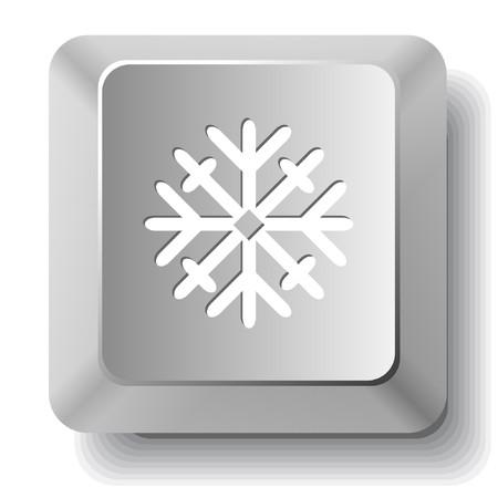 Snowflake. computer key. Stock Vector - 7522970