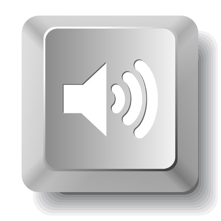 sonic: Speaker. Vector computer key.