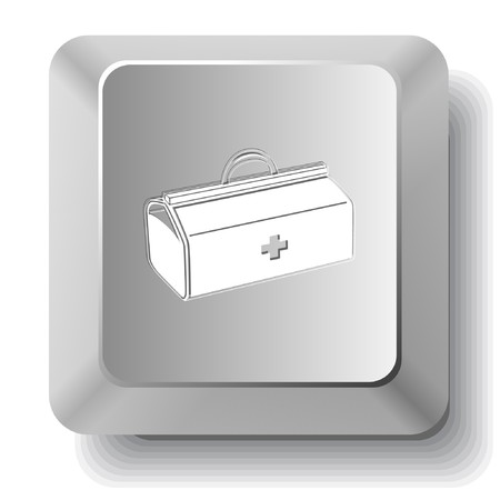 Medical suitcase.computer key. Stock Vector - 7523547